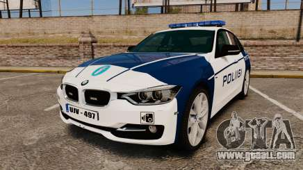 BMW F30 328i Finnish Police [ELS] for GTA 4