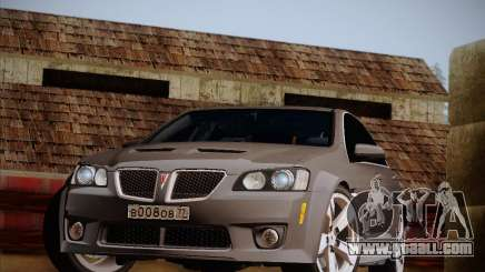 Pontiac G8 GXP 2009 for GTA San Andreas