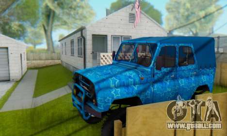UAZ 469 Blue Star for GTA San Andreas interior