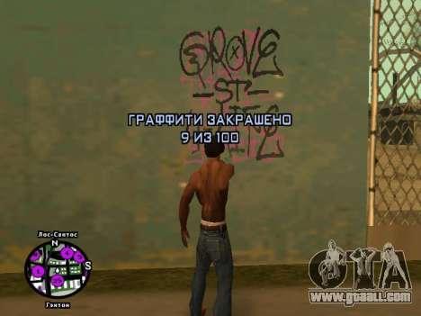 Tags Map Mod v1.2 for GTA San Andreas forth screenshot