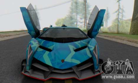 Lamborghini LP750-4 2013 Veneno Blue Star for GTA San Andreas left view