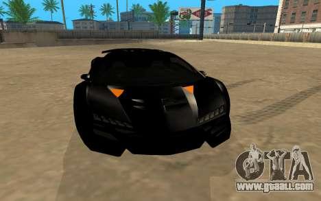 GTA 5 Zentorno for GTA San Andreas back view