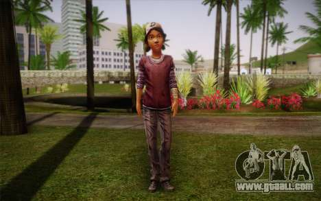 Clementine из The Walking Dead for GTA San Andreas