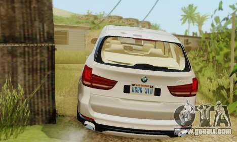 BMW X5 (F15) 2014 for GTA San Andreas back view