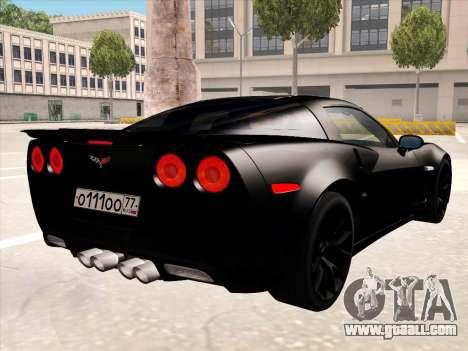Chevrolet Corvette Grand Sport for GTA San Andreas wheels