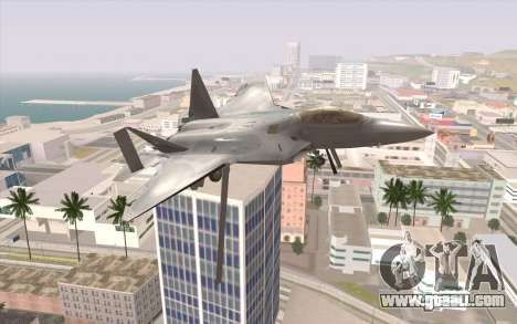 F-22 Raptor for GTA San Andreas right view