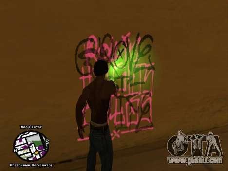 Tags Map Mod v1.2 for GTA San Andreas third screenshot