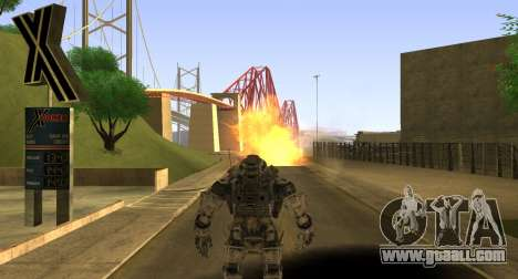 TitanFall Atlas for GTA San Andreas seventh screenshot