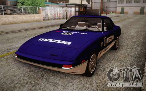 Mazda RX-7 GSL-SE 1985 IVF for GTA San Andreas bottom view