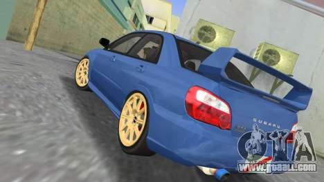 Subaru Impreza WRX STI 2005 for GTA Vice City back left view