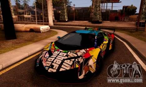 Lamborghini LP750-4 2013 Veneno Stikers Editions for GTA San Andreas right view