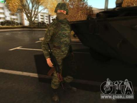 Bomber of the modern Russian Army for GTA San Andreas third screenshot