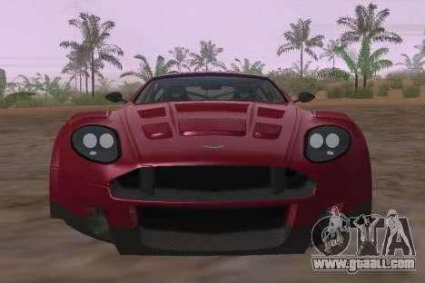 Aston Martin DBR9 for GTA San Andreas inner view