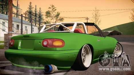 Mazda Miata Hellaflush for GTA San Andreas back left view