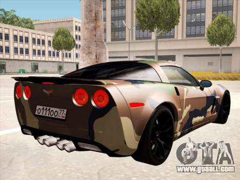 Chevrolet Corvette Grand Sport for GTA San Andreas interior