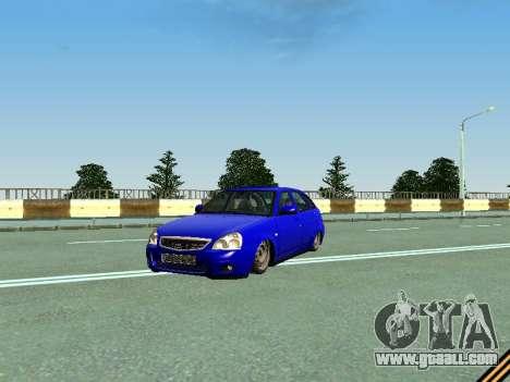 VAZ 2172 for GTA San Andreas upper view