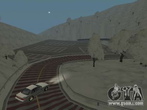 SinAkagi Snow Drift track for GTA San Andreas third screenshot