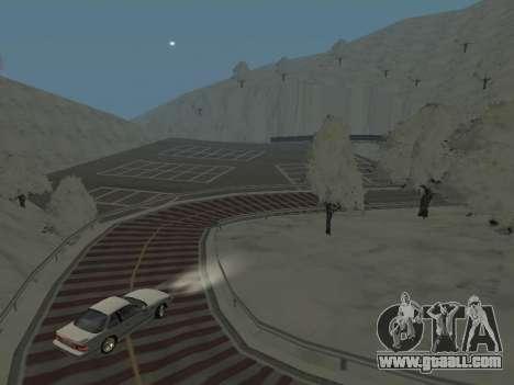 SinAkagi Snow Drift track for GTA San Andreas third screenshot