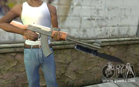 AK47 with a bayonet for GTA San Andreas third screenshot