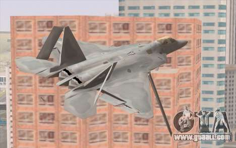 F-22 Raptor for GTA San Andreas back view