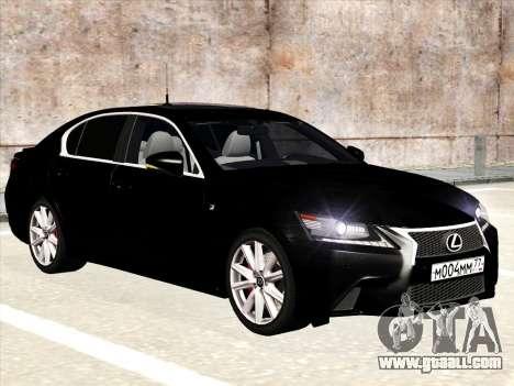 Lexus GS350F Sport for GTA San Andreas