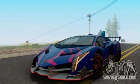 Lamborghini LP750-4 2013 Veneno Blue Star for GTA San Andreas bottom view