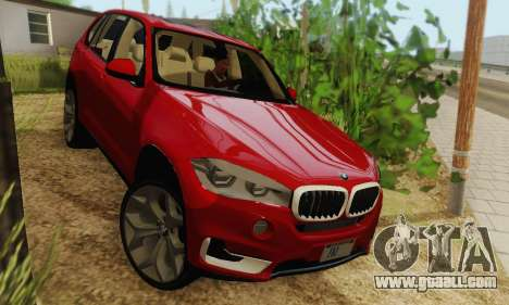 BMW X5 (F15) 2014 for GTA San Andreas back left view