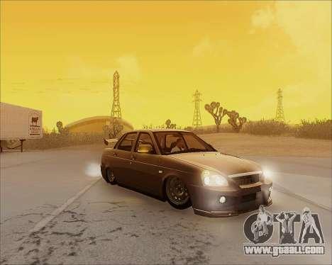 Lada 2170 Priora Tuneable for GTA San Andreas interior