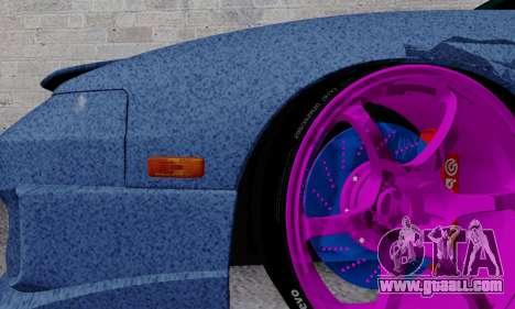 Nissan 240SX for GTA San Andreas bottom view