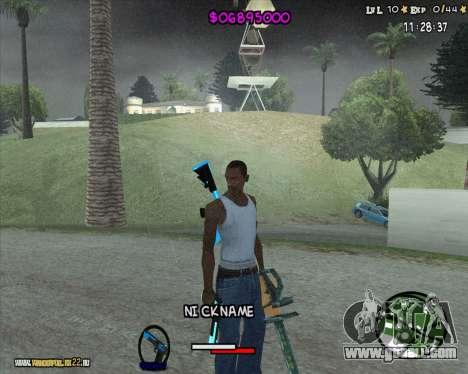 HUD by Romka MC for GTA San Andreas second screenshot