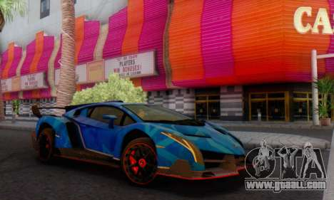 Lamborghini LP750-4 2013 Veneno Blue Star for GTA San Andreas