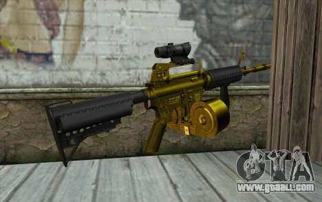 Golden M4 with a shop for GTA San Andreas second screenshot