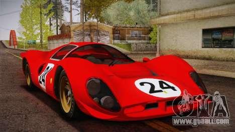 Ferrari 330 P4 1967 HQLM for GTA San Andreas upper view