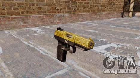 Gun FN Five seveN Gold for GTA 4