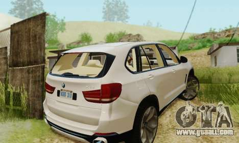 BMW X5 (F15) 2014 for GTA San Andreas inner view