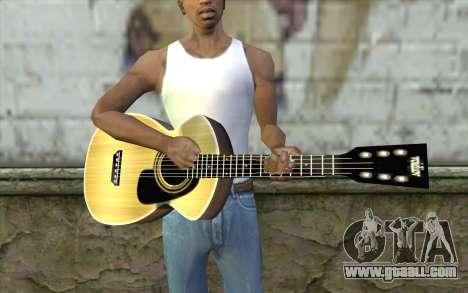 Acoustic Guitar for GTA San Andreas third screenshot