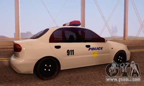 Daewoo Lanos Police for GTA San Andreas right view