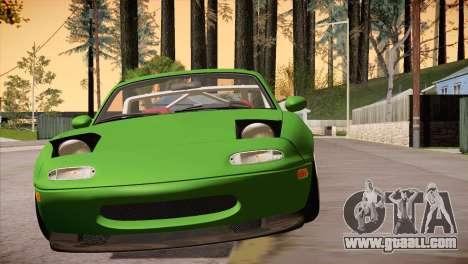 Mazda Miata Hellaflush for GTA San Andreas back view