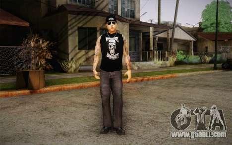 M. Shadows Skin for GTA San Andreas second screenshot
