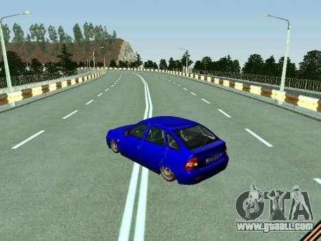 VAZ 2172 for GTA San Andreas back left view