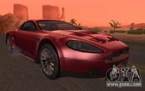 Aston Martin DBR9 for GTA San Andreas left view