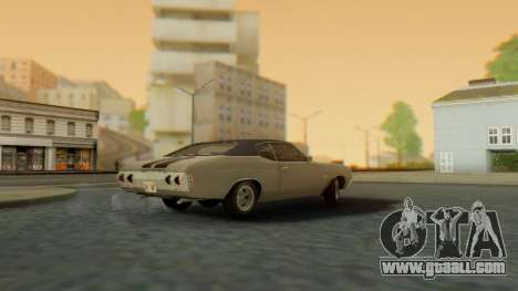Chevrolet Chevelle SS 454 1971 for GTA San Andreas left view
