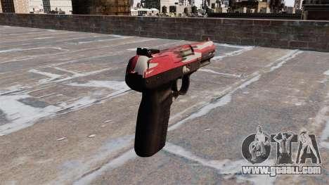 Gun FN Five-seveN urban Red for GTA 4 second screenshot