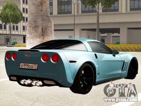 Chevrolet Corvette Grand Sport for GTA San Andreas back left view