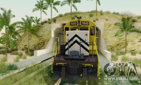GTA V Trem 2 for GTA San Andreas right view