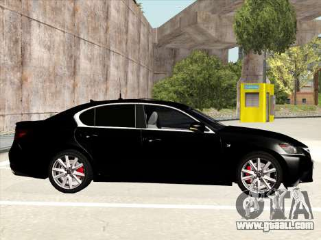 Lexus GS350F Sport for GTA San Andreas back left view