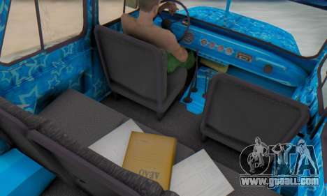 UAZ 469 Blue Star for GTA San Andreas inner view
