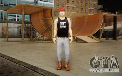 Axl Rose Skin v2 for GTA San Andreas