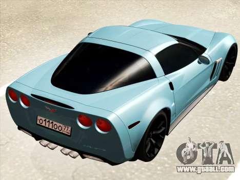 Chevrolet Corvette Grand Sport for GTA San Andreas right view