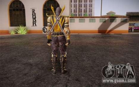 Scorpion из Mortal Kombat 9 for GTA San Andreas second screenshot